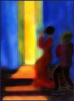 Auftritt der Frauen , gemalt 2005, digital bearbeitet 2013