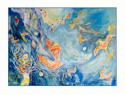 mixed media painting, 60x80, 2013