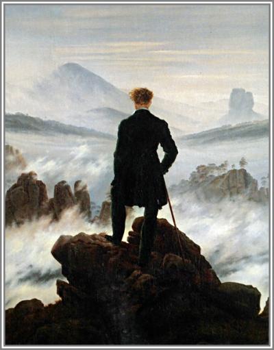David Caspars Friedrich,AuszuglR Der Wanderer über dem Nebelmeer