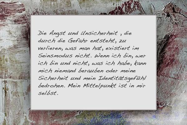 Erich Fromm Haben oder Sein 1976 S.111