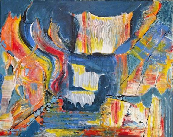 Komposition 3, 40x50cm, Leinwand 2018