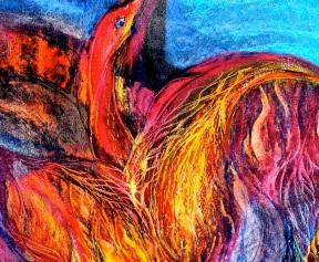 Feuervogel 1, 30x40, Papier, 2011